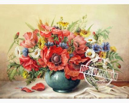 VP294 картина по номерам Маки с полевыми цветами DIY Babylon фото набора