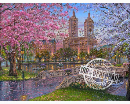 VP296 Картина по номерам Весна в парке Babylon