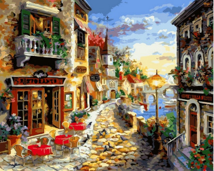 VP300 картина по номерам Приморский бульвар DIY Babylon