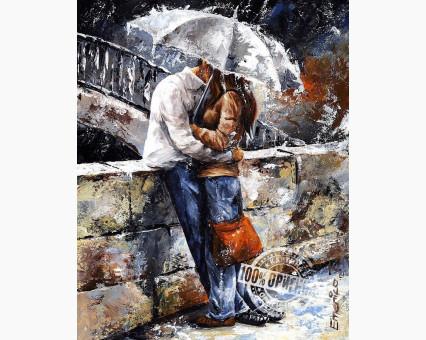 VP314 картина по номерам Любовь под дождем DIY Babylon фото набора