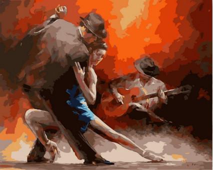 VP318 картина по номерам Страстное танго DIY Babylon