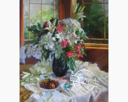 VP334 картина по номерам Лилии и красная смородина DIY Babylon фото набора