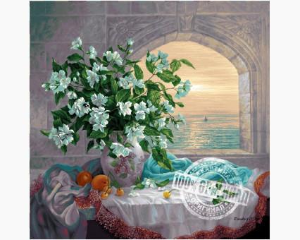VP335 картина по номерам Букет жасмина DIY Babylon фото набора