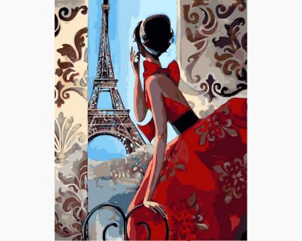 VP341 картина по номерам Утро в Париже DIY Babylon