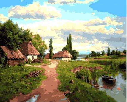 VP349 картина по номерам Окраина DIY Babylon