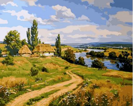 VP350 картина по номерам Украинский пейзаж 2 DIY Babylon