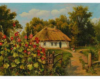VP354 картина по номерам Сельская хатка DIY Babylon фото набора
