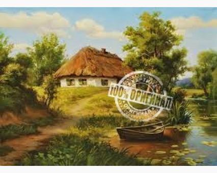 VP356 картина по номерам Домик возле пруда DIY Babylon фото набора