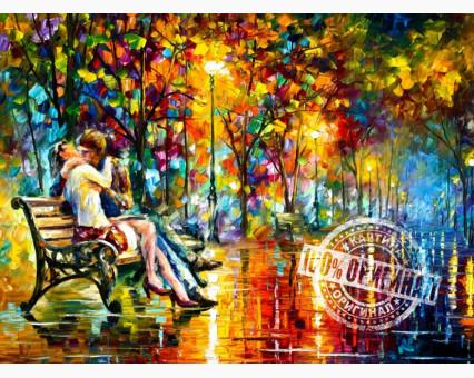VP359 картина по номерам Поцелуй на скамейке DIY Babylon фото набора