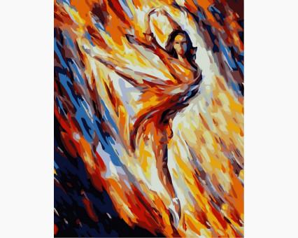VP366 картина по номерам Страсть и огонь DIY Babylon