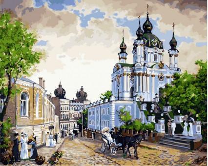 VP370 картина по номерам Андреевский спуск DIY Babylon