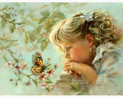 VP384 картина по номерам Наблюдая за бабочкой DIY Babylon фото набора