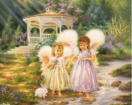 VP386 картина по номерам Маленькие ангелы DIY Babylon фото набора