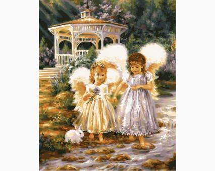 VP386 картина по номерам Маленькие ангелы DIY Babylon