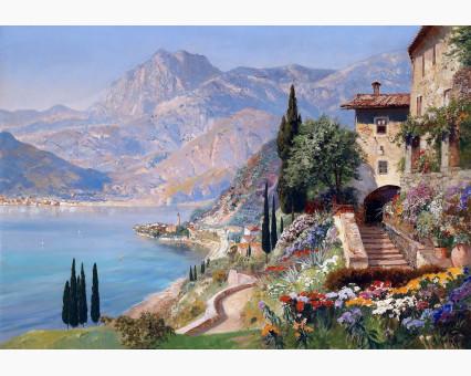 VP394 картина по номерам Средиземноморский пейзаж DIY Babylon фото набора