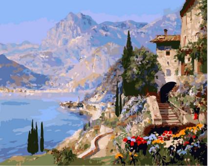 VP394 картина по номерам Средиземноморский пейзаж DIY Babylon
