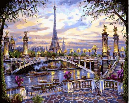 VP397 картина по номерам Воспоминания о Париже DIY Babylon