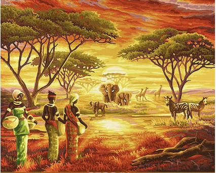 VP417 картина по номерам Африка DIY Babylon фото набора