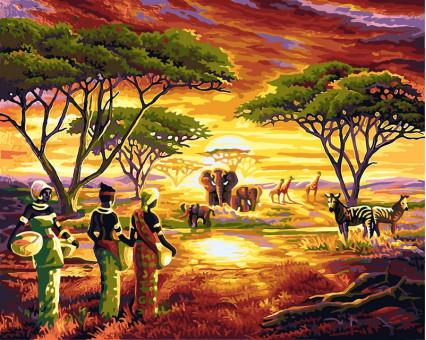 VP417 картина по номерам Африка DIY Babylon