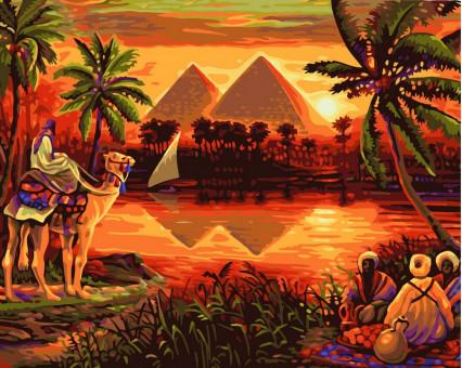 VP420 картина по номерам Пирамиды DIY Babylon