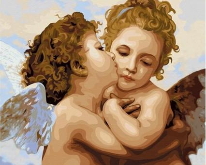 VP430 картина по номерам Поцелуй ангела DIY Babylon