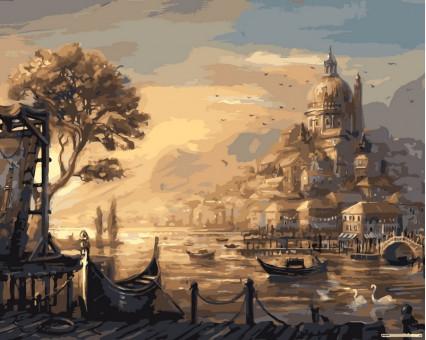 VPS051 картина по номерам Вечерняя Венеция DIY Babylon
