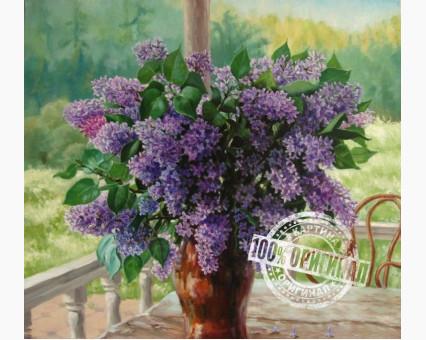 VS011 картина по номерам Сирень на веранде Вундеркинд фото набора