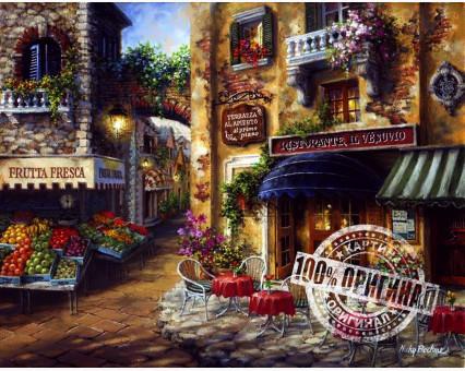 VS026 картина по номерам Вкус Италии. Ресторан Везувий DIY Babylon фото набора