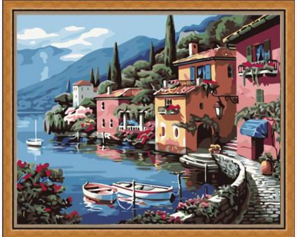 KH103 картина по номерам Итальянская набережная  Идейка