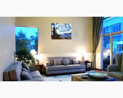KH124 картина по номерам Звездная ночь Идейка фото набора
