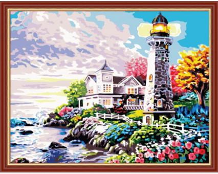 KH192 картина по номерам Дом у маяка  Идейка