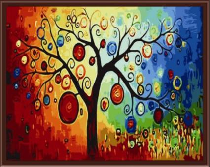 KH230 картина по номерам Дерево богатства Идейка
