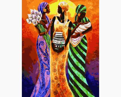 VP415new картина по номерам Африканские мотивы DIY Babylon