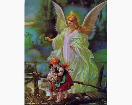 VP434new Картина по номерам Ангел хранитель Babylon