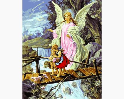 VP434new картина по номерам Ангел хранитель DIY Babylon