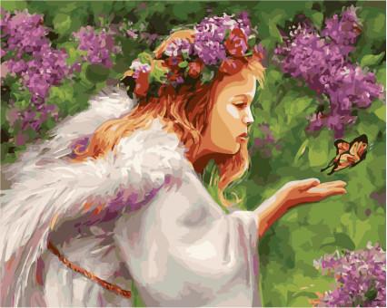 VP435 картина по номерам Поцелуй бабочки DIY Babylon