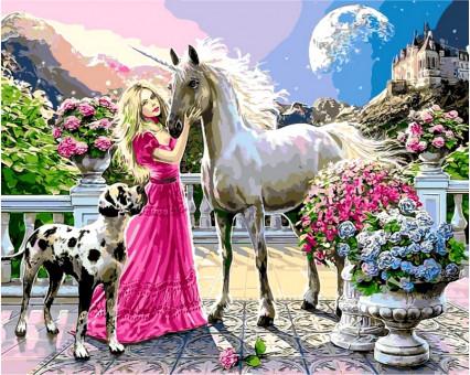 VP436 картина по номерам Девьчьи мечты DIY Babylon