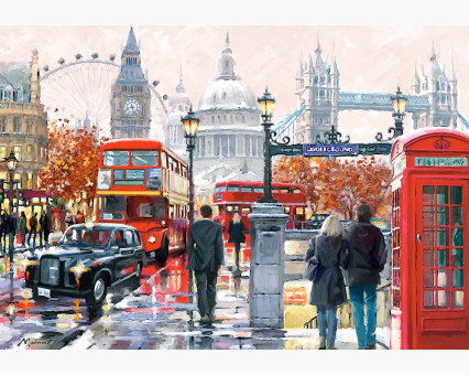 VP441 картина по номерам Очарование лондона DIY Babylon фото набора