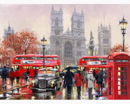 VP441new картина по номерам Дождливый Лондон DIY Babylon фото набора