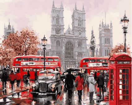 VP441new картина по номерам Дождливый Лондон DIY Babylon