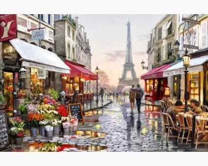 VP443 картина по номерам Париж после дождя DIY Babylon фото набора