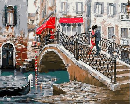VP444 картина по номерам Мост влюбленных DIY Babylon