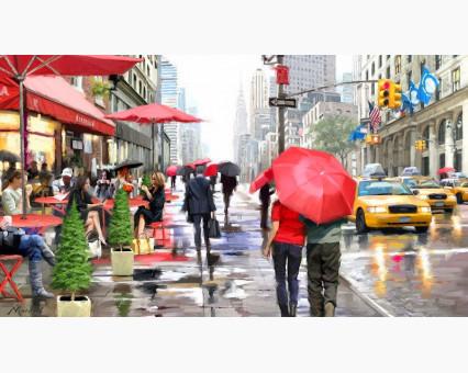 VP446 картина по номерам Дождь в Нью-Йорке DIY Babylon фото набора