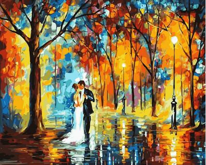VP457 картина по номерам Дождливая свадьба DIY Babylon