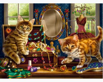 VP462 картина по номерам Шкатулка с драгоценностями DIY Babylon фото набора