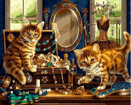 VP462 картина по номерам Шкатулка с драгоценностями DIY Babylon