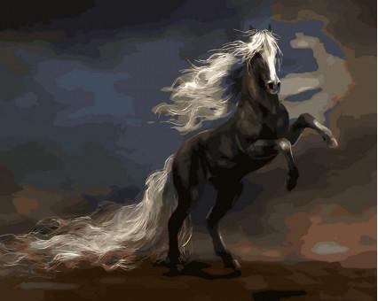 VP471 картина по номерам Чудный конь  DIY Babylon