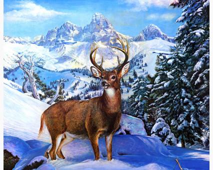 VP474 картина по номерам Благородный олень DIY Babylon