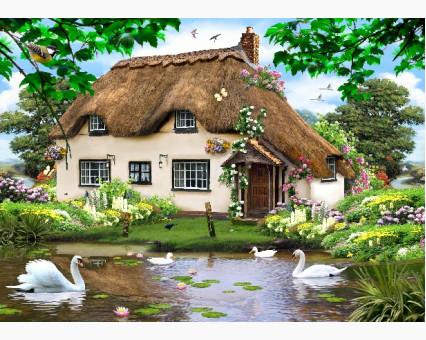 VP476 картина по номерам Сельский домик DIY Babylon фото набора
