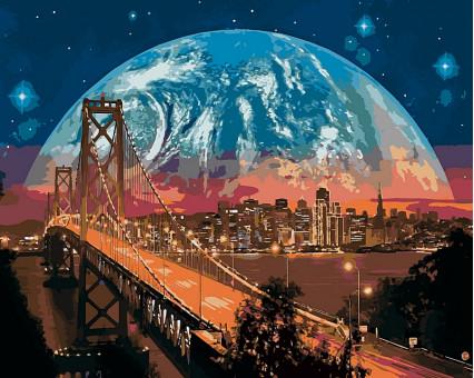 VP481 картина по номерам Сан-Франциско DIY Babylon